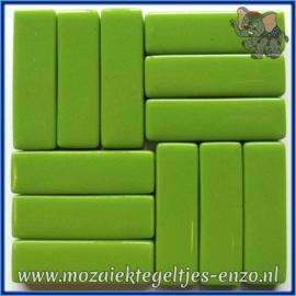 Glasmozaiek steentjes - Stix Rechthoekjes Staafjes XL Normaal - 12 x 38 mm - Enkele Kleuren - per 50 gram - New Green