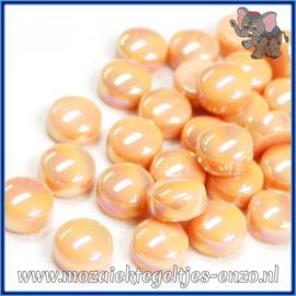 Glasmozaiek steentjes - Optic Drops Parelmoer - 12 mm - Enkele Kleuren - per 50 gram - Deep Blush
