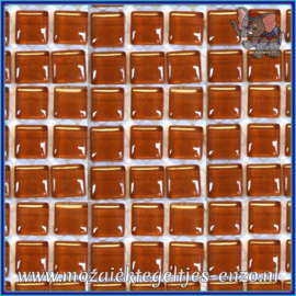 Glasmozaiek tegeltjes - Murrini Crystal - 1 x 1 cm - Enkele Kleuren - per 60 steentjes - Mini Creme Caramel