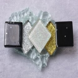 "- Glitter 2 x 2 cm - Yin-and-Yang-""S"""