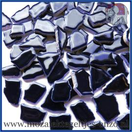 Keramische mozaiek steentjes - Keramiek Puzzel Stukjes Normaal - Enkele Kleuren - per 50 gram - Blue Black