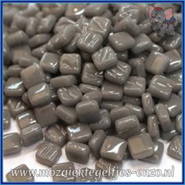 Glasmozaiek Pixel steentjes - Ottoman Normaal - 0,8 x 0,8 cm - Enkele Kleuren - per 50 gram - Deep Grey
