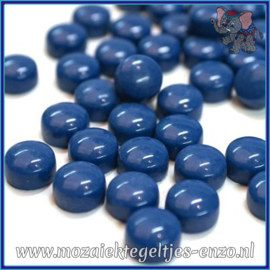 Glasmozaiek steentjes - Optic Drops Normaal - 12 mm - Enkele Kleuren - per 50 gram - Deep Lake Blue