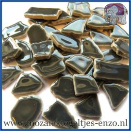 Keramische mozaiek steentjes - Keramiek Puzzel Stukjes Normaal - Enkele Kleuren - per 50 gram - Mid Grey