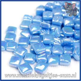Glasmozaiek Pixel steentjes - Ottoman Parelmoer - 0,8 x 0,8 cm - Enkele Kleuren - per 50 gram - Lake Blue