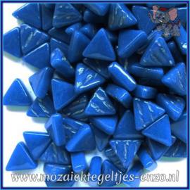 Glasmozaiek steentjes - Art Angles Normaal - 10 mm - Enkele Kleuren - per 50 gram - Deep Lake Blue