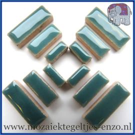 Keramische mozaiek steentjes - Keramiek Rectangles Rechthoekjes Normaal - 4, 6 en 10 mm - Enkele Kleuren - per 50 gram - Phthalo Green