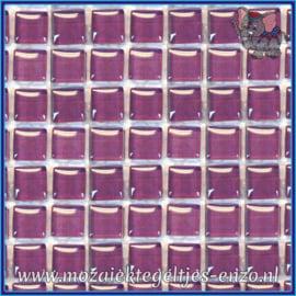 Glasmozaiek tegeltjes - Murrini Crystal - 1 x 1 cm - Enkele Kleuren - per 60 steentjes - Mini Orchid