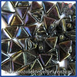 Glasmozaiek steentjes - Art Angles Parelmoer - 10 mm - Enkele Kleuren - per 50 gram - Opal Black