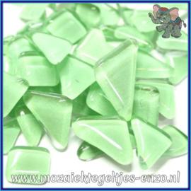 Glasmozaiek steentjes - Soft Glass Puzzles Normaal - Enkele Kleuren - per 50 gram - Fresh Green