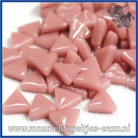 Glasmozaiek steentjes - Art Angles Normaal - 10 mm - Enkele Kleuren - per 50 gram - Deep Rose