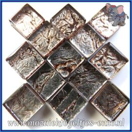 Glasmozaiek tegeltjes - Foil - 1 x 1 cm - Enkele Kleuren - per 50 gram - Mini Pewster