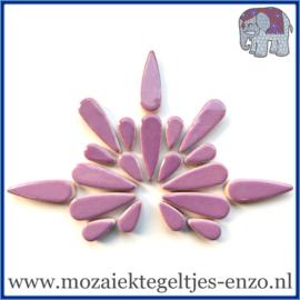 Keramische mozaiek steentjes - Keramiek Teardrops Druppels Normaal - 15 en 30 mm - Enkele Kleuren - per 50 gram - Lilac