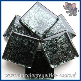 Glasmozaiek tegeltjes - Foil - 2 x 2 cm - Enkele Kleuren - per 20 steentjes - Onyx
