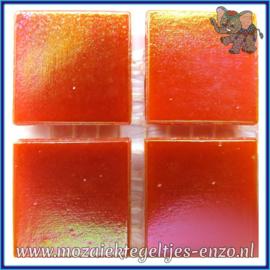 Glasmozaiek tegeltjes - Parelmoer - 2 x 2 cm - Enkele Kleuren - per 20 steentjes - Fire Agate