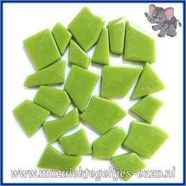 Glasmozaiek steentjes Snippets Puzzel Stukjes Normaal - Enkele Kleuren - per 50 gram - New Green