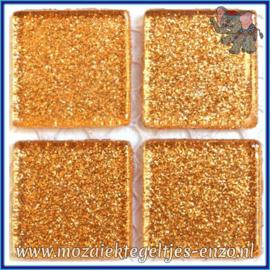 Glasmozaiek tegeltjes - Glitter - 2 x 2 cm - Enkele Kleuren - per 20 steentjes - Copper Clad