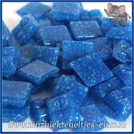 Glasmozaiek tegeltjes - Basic Line - 1 x 1 cm - Enkele Kleuren - per 60 steentjes - Mini Dark Turquoise A16