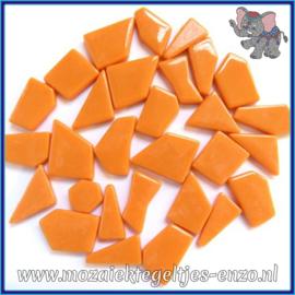 Glasmozaiek steentjes Snippets Puzzel Stukjes Normaal - Enkele Kleuren - per 50 gram - Light Orange
