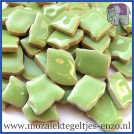 Keramische mozaiek steentjes - Keramiek Puzzel Stukjes Normaal - Enkele Kleuren - per 50 gram - Peppermint