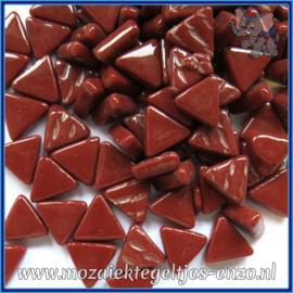 Glasmozaiek steentjes - Art Angles Normaal - 10 mm - Enkele Kleuren - per 50 gram - Bordeaux