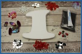 Mozaiek Kant & Klaar Pakket Piepschuim Huisnummer Groot - Cijfer 1 Rood