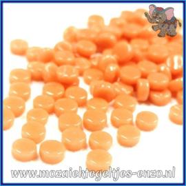 Glasmozaiek Pixel steentjes - Darling Dotz Normaal - 0,8 cm - Enkele Kleuren - per 50 gram - Apricot