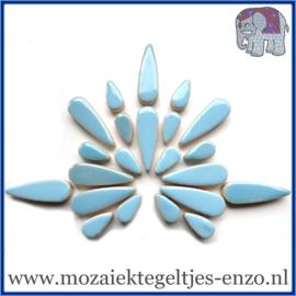 Keramische mozaiek steentjes - Keramiek Teardrops Druppels Normaal - 15 en 30 mm - Enkele Kleuren - per 50 gram - Azure