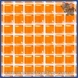 Glasmozaiek tegeltjes - Murrini Crystal - 1 x 1 cm - Enkele Kleuren - per 60 steentjes - Mini Tangerine