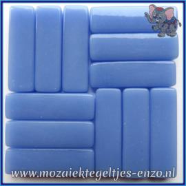 Glasmozaiek steentjes - Stix Rechthoekjes Staafjes XL Normaal - 12 x 38 mm - Enkele Kleuren - per 50 gram - Pale Blue