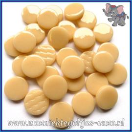 Glasmozaiek steentjes - Penny Rounds Normaal - 18 mm - Enkele Kleuren - per 50 gram - Soft Blush