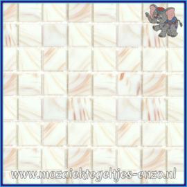 Glasmozaiek tegeltjes - Gold Line - 2 x 2 cm - Enkele Kleuren - per 20 steentjes - White Gold
