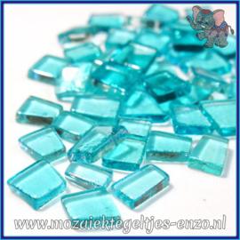 Glasmozaiek steentjes - Transparant Glass Puzzles Normaal - Enkele Kleuren - per 50 gram - Sea Punk Turquoise