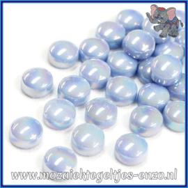 Glasmozaiek steentjes - Optic Drops Parelmoer - 12 mm - Enkele Kleuren - per 50 gram - Pale Blue