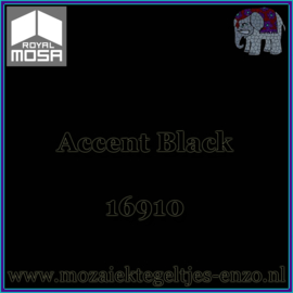 Binnen wandtegel Royal Mosa - Glanzend - 15 x 15 cm - per 1 stuk - Accent Black 16910