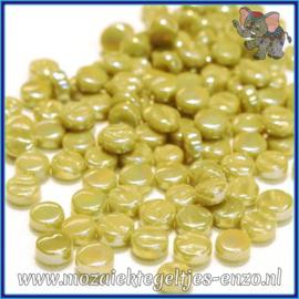 Glasmozaiek Pixel steentjes - Darling Dotz Parelmoer - 0,8 cm - Enkele Kleuren - per 50 gram - Olive