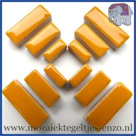 Keramische mozaiek steentjes - Keramiek Rectangles Rechthoekjes Normaal - 4, 6 en 10 mm - Enkele Kleuren - per 50 gram - Curry