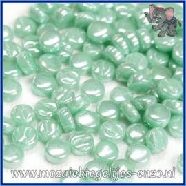 Glasmozaiek Pixel steentjes - Darling Dotz Parelmoer - 0,8 cm - Enkele Kleuren - per 50 gram - Pale Teal