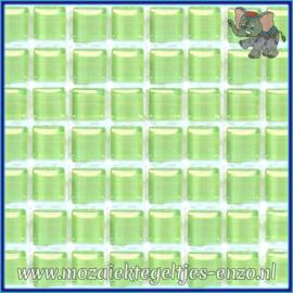 Glasmozaiek tegeltjes - Murrini Crystal - 1 x 1 cm - Enkele Kleuren - per 60 steentjes - Mini Fresh Green