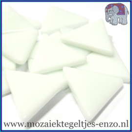 Glasmozaiek steentjes - Art Angles Gewoon - 29 mm - Enkele Kleuren - per 1 kilo - White