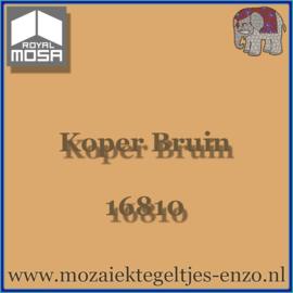 Binnen wandtegel Royal Mosa - Glanzend - 15 x 15 cm - per 1 stuk - Koper Bruin 16810