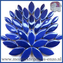 Keramische mozaiek steentjes - Petals Bloemblaadjes Normaal - 14 en 21 mm - Enkele Kleuren - per 50 gram - Indigo