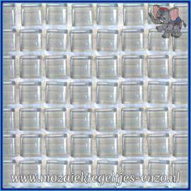 Glasmozaiek tegeltjes - Murrini Crystal - 1 x 1 cm - Enkele Kleuren - per 60 steentjes - Mini Slate Grey