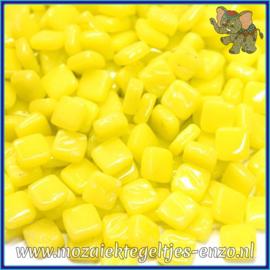Glasmozaiek Pixel steentjes - Ottoman Normaal - 0,8 x 0,8 cm - Enkele Kleuren - per 50 gram - Acid Yellow