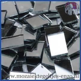 Spiegel mozaiek steentjes - per 50 gram - 1 x 1,5 cm