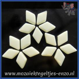 Glasmozaiek steentjes - Diamonds Ruitjes Wiebertjes Normaal - 12 x 19 mm - Enkele Kleuren - per 50 gram - Alabaster