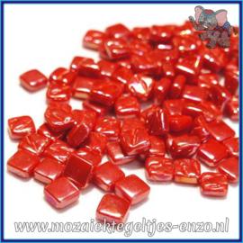 Glasmozaiek Pixel steentjes - Ottoman Parelmoer - 0,8 x 0,8 cm - Enkele Kleuren - per 50 gram - Bright Red