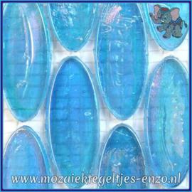 Glasmozaiek steentjes - Radiant Ellipse Parelmoer - 20 x 45 mm - Enkele Kleuren - per 1 stuk - Maldives