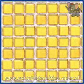 Glasmozaiek tegeltjes - Murrini Crystal - 1 x 1 cm - Enkele Kleuren - per 60 steentjes - Mini Shining Gold