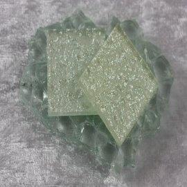 """Glasmozaïek Pearl Sparkle 2,5 x 2,5 cm - Sparkle White -""""S"""""""